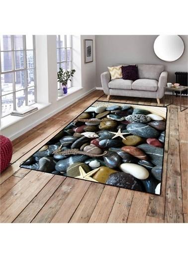 Halı Deniz Taşları Modern Dekoratif Mutfak 3D Salon Halıları 80X150Cm Renkli